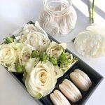 scatola confezione speciale mamma cosaporto idoflowers macarons fiori