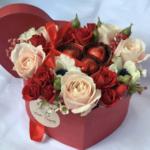 Confezione San Valentino Fiori e Cioccolato Eredi Bagatin Neuhaus Cosaporto
