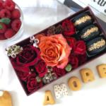 Consegna a domicilio Scatola media di I Do Flowers San Valentino