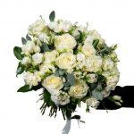 Bouquet di fiori bianchi da Eredi Bagatin consegna a domicilio con Cosaporto