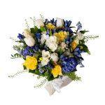 Bouquet di fiori in sacchetto di juta Eredi Bagatin consegna a domicilio con Cosaporto