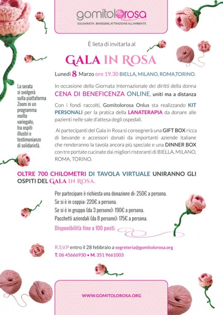 gala in rosa gomitolorosa