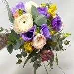 bouquet fiori primaverili e mimosa