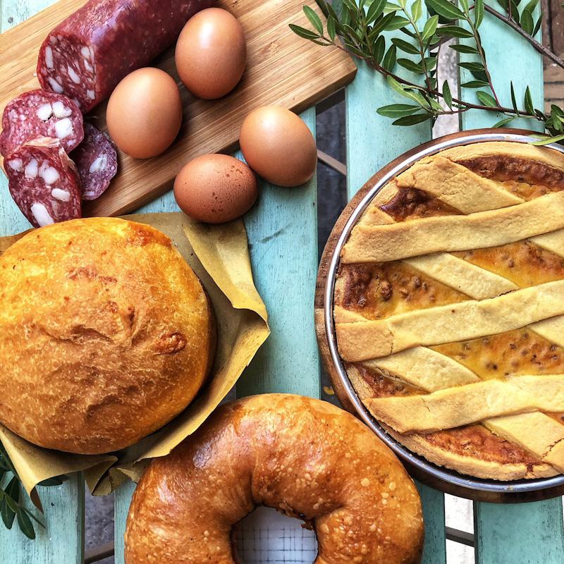 Box Colazione di Pasqua Cafè Merenda consegna a domicilio con Cosaporto