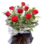 Mazzo di rose rosse o bianche Fiorile consegna a domicilio con Cosaporto
