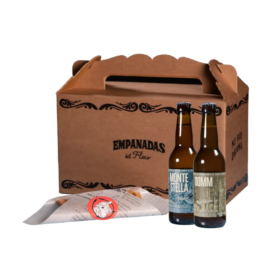 Empanada Party con birra Empanadas del Flaco consegna a domicilio con Cosaporto
