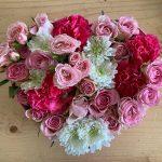 Flower Box a cuore La Fioreria consegna a domicilio con Cosaporto